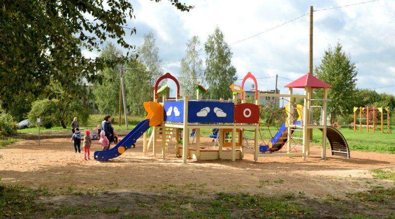Jauns bērnu rotaļu laukums Laucesas pagastā